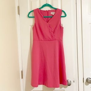 Elle Pink Scalloped Sleeveless Dress Size 4